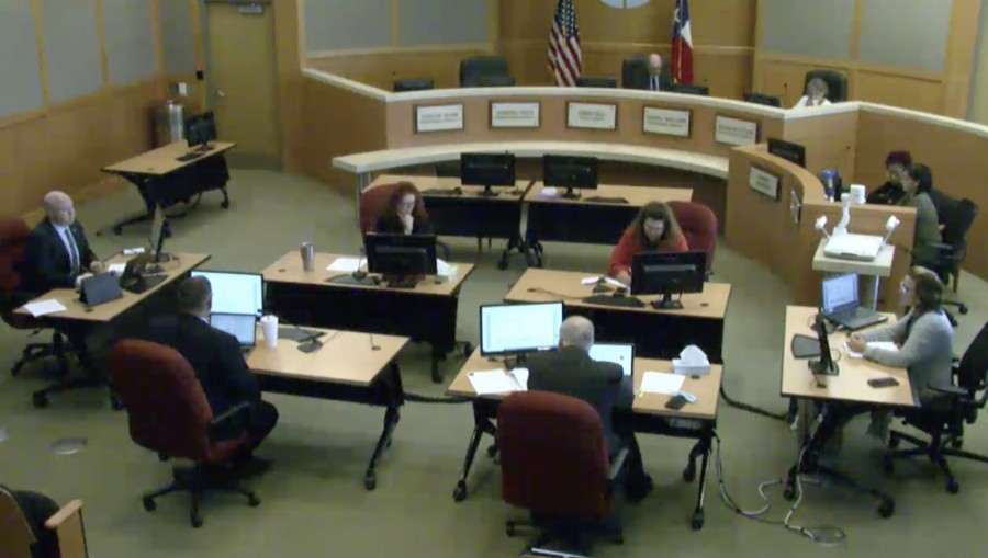 Collin County commissioners update the county subdivision regulations during their Sept. 28 meeting. (Screenshot courtesy Collin County)