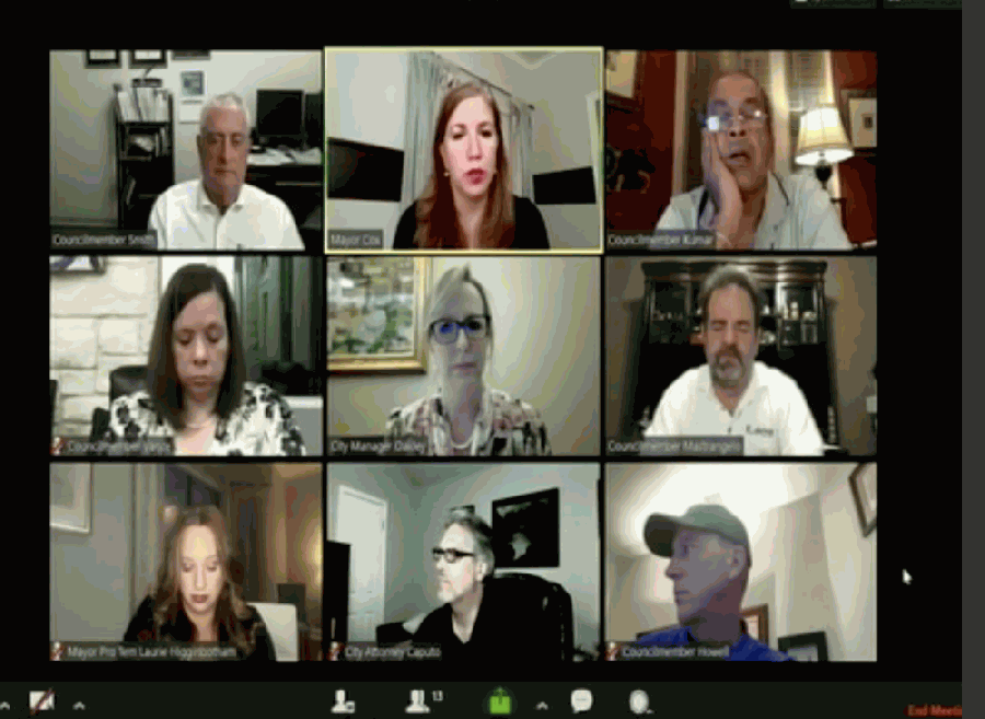 Lakeway City Council met virtually Sept. 28. (Screenshot of Zoom meeting)