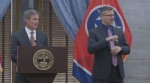 Gov. Bill Lee announced Sept. 29 coronavirus restrictions will be lifted in most counties across Tennessee. (Screenshot via Facebook Live)