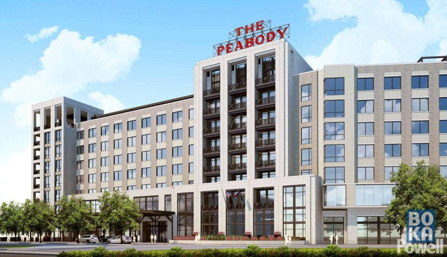 The Peabody Roanoke has been delayed due to the COVID-19 pandemic. (Rendering courtesy Peabody Hotels & Resorts)