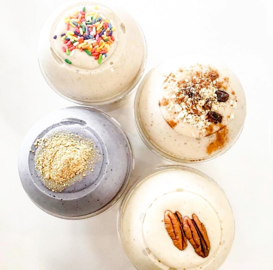The new business will offer protein doughnuts, gourmet shakes, energy teas and protein iced coffee. (Courtesy Algoo Buenoo)
