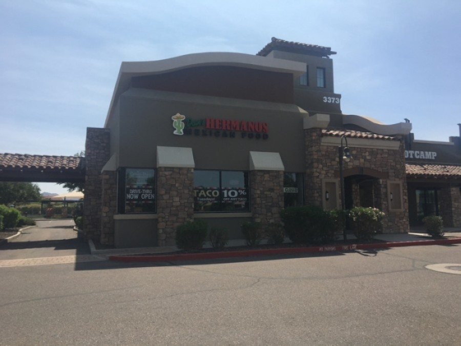 Dean's Hermanos Mexican Food restaurant is among the businesses that have closed this summer in Gilbert. (Tom Blodgett/Community Impact Newspaper)