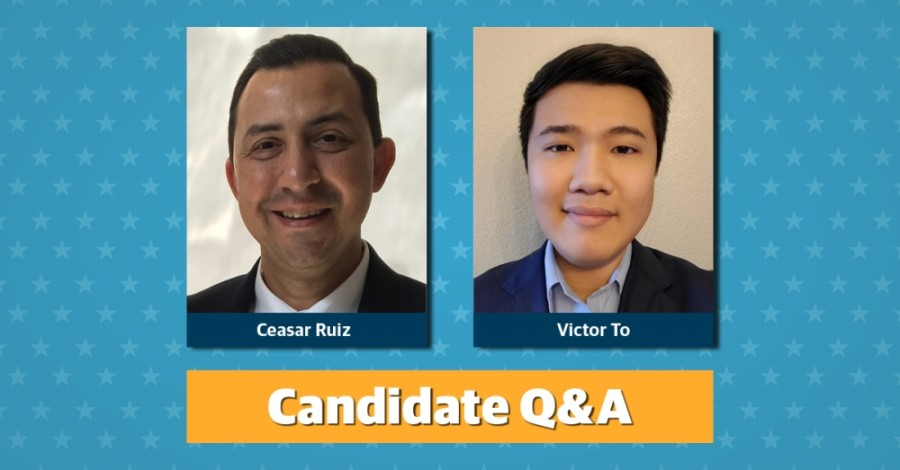 Ceasar Ruiz and Victor To are running for Pflugerville City Council Place 2. (Community Impact staff)