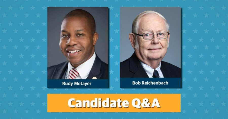 Two candidates, Rudy Metayer and Bob Reichenbach, are seeking Pflugerville City Council's Place 4 seat.
