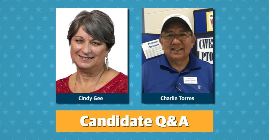 Cindy Gee and Charlie Torres are the two candidates running for Place 7 on the Pflugerville ISD board of trustees.