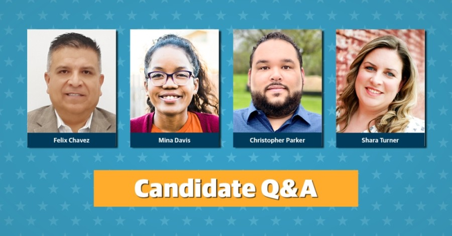 Four candidates will run for two open seats on Hutto ISD's board of trustees. (Community Impact staff)