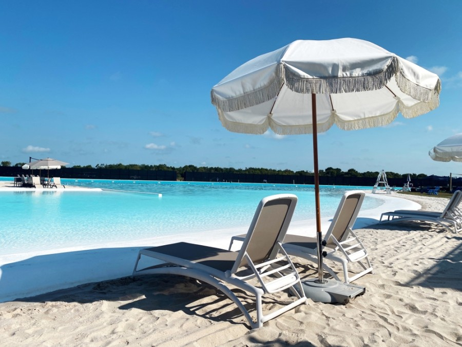 Crystal Lagoon is the largest amenity of its kind in Texas. (Courtesy Lago Mar)