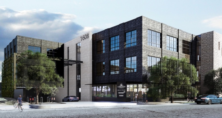 A new 45,600-square foot office development will be coming to 1608 W. Fifth St., Austin, between Donn's Depot piano bar and El Arroyo restaurant. (Rendering courtesy Studio 8 Architects)