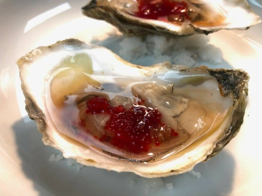 Oysters are sold at market price at CT Provisions and are served with mignonette sauce, lemon, cocktail sauce and tobiko. (Courtesy CT Provisions)