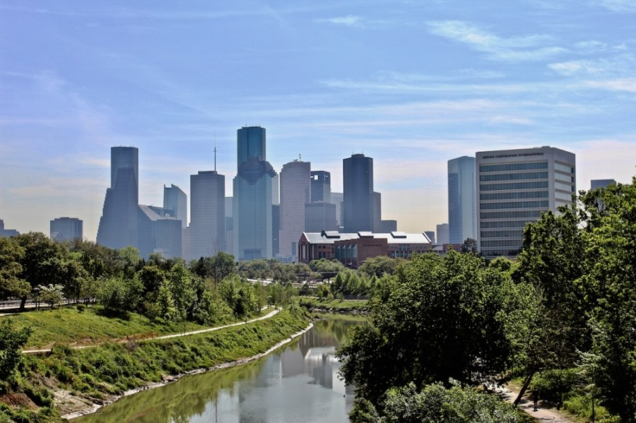 Buffalo Bayou runs through the city of Houston. (Matt Dulin/Community Impact Newspaper)