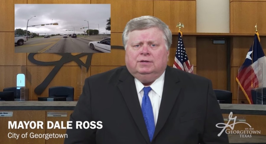The Texas Department of Transportation was joined by Texas Transportation Commission Chairman J. Bruce Bugg, U.S. Rep. John Carter and Georgetown Mayor Dale Ross to celebrate a virtual groundbreaking for the project. (Screenshot courtesy city of Georgetown)