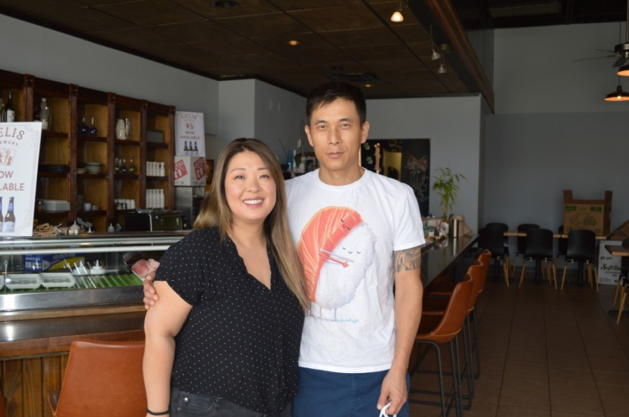 Judy Yoon and Mike Kim opened their restaurant in 2015. (Taylor Girtman/Community Impact Newspaper)