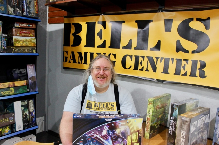 Michael Bell opened Bells Gaming Center in July 2018. The store sells card games, board games, dice and other accessories. (Photos by Taylor Jackson Buchanan/Community Impact Newspaper)