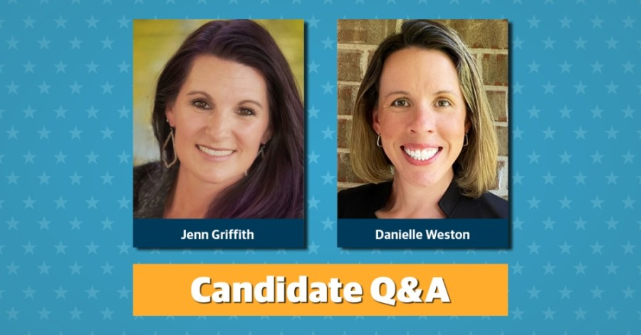 Jenn Griffith and Danielle Weston are running for Round Rock ISD board of trustees Place 7. (Community Impact Newspaper staff)