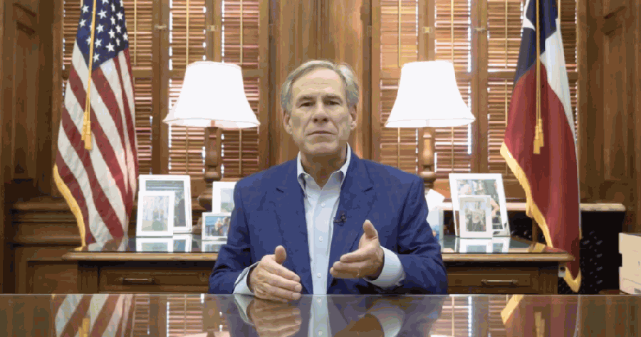 Gov. Greg Abbott announced Texas bars may reopen at 50% capacity starting Oct. 14 in an Oct. 7 video announcement. (Screenshot courtesy office of Gov. Greg Abbott)
