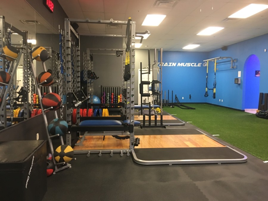When StrongFound Personal Training expanded the gym in 2019, it added a new addition in the back, which it turned into a lounge and more gym space.  (Haley Morrison/Community Impact Newspaper)
