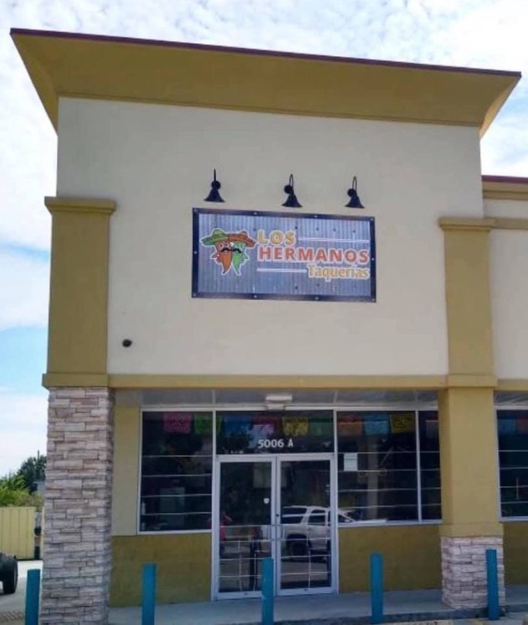 The soft opening will feature a limited menu of breakfast and lunch tacos on handmade flour and corn tortillas. (Courtesy Los Hermanos Taquerias)