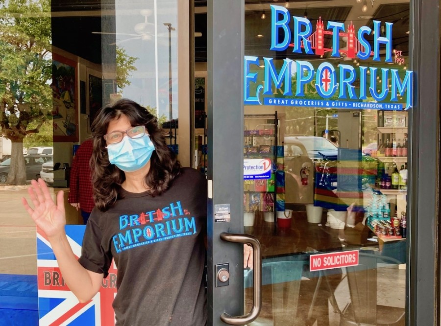 Sheela K. Bailey is the owner of British Emporium, which now has a pop-up location in Richardson inside restaurant Fish & Fizz. (Courtesy British Emporium)