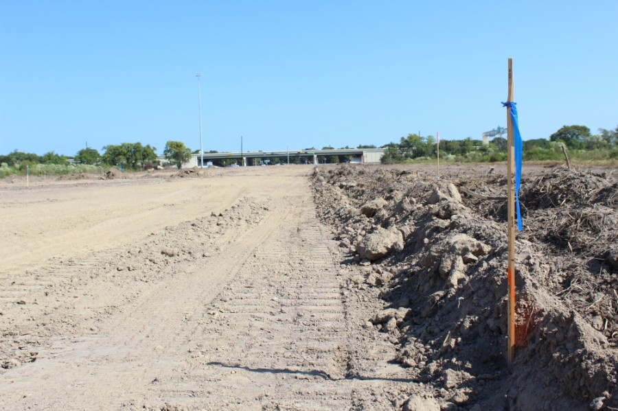 Work has begun on a mobility project in Cypress to extend Mason Road south of Hwy. 290 into the future site of the Dunham Pointe master-planned community. (Shawn Arrajj/Community Impact Newspaper)