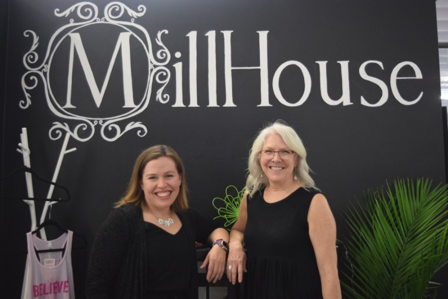 MillHouse co-founders Beth and Carol Beck are celebrating the one-year anniversary of the space.  (Emily Davis/Community Impact Newspaper)