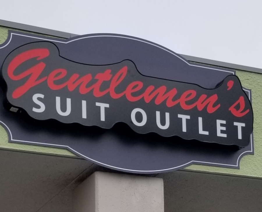 The business offers customers a selection of suits, including its signature brand Royal Suits, which is designed in California. (Courtesy Gentlemen's Suit Outlet)
