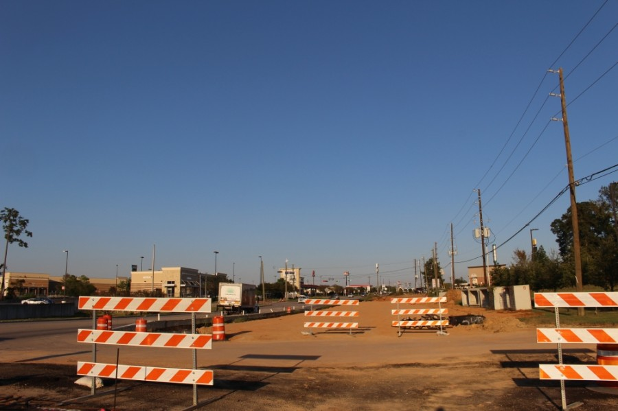 Work to widen FM 1097 in Willis was partially funded by the county's 2015 bond. Since then, the county has identified other major thoroughfares that need improvement in its 2016 thoroughfare plan, and it is now beginning to update that plan. (Eva Vigh/Community Impact Newspaper)