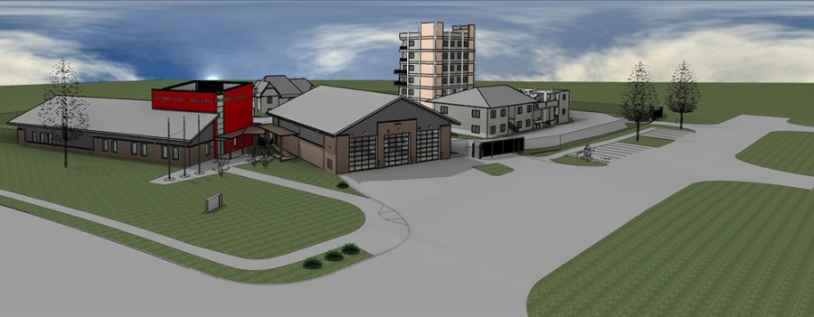 A rendering shows what the training center will look like once complete in 2021. (Courtesy Plano Fire-Rescue)