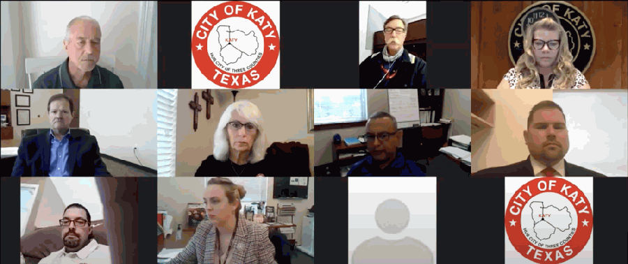Katy City Council members discussed the creation of a capital improvement project fund at the Oct. 12 special City Council meeting. (Screenshot of Oct. 12 Katy City Council meeting via Zoom)