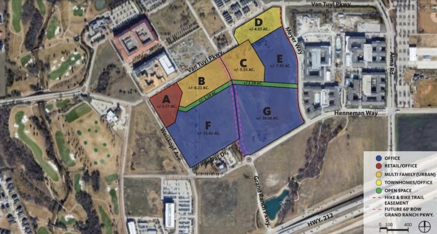 More than 62 acres had their zones reshuffled to be divided into seven tracts in McKinney. (Courtesy city of McKinney)