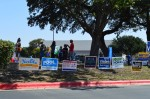 Austinites line up to vote on the first day of early voting, Oct. 13, at the Ben Hur Shrine. (Iain Oldman/Community Impact Newspaper)