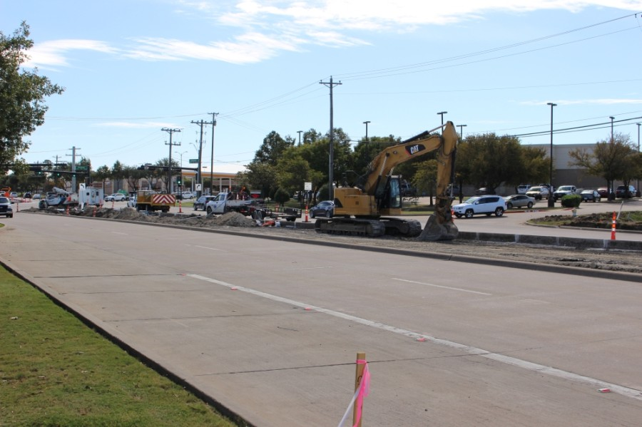 Work to widen Lebanon Road in Frisco has begun and is expected to take at least 12 months. (Miranda Jaimes/Community Impact Newspaper)