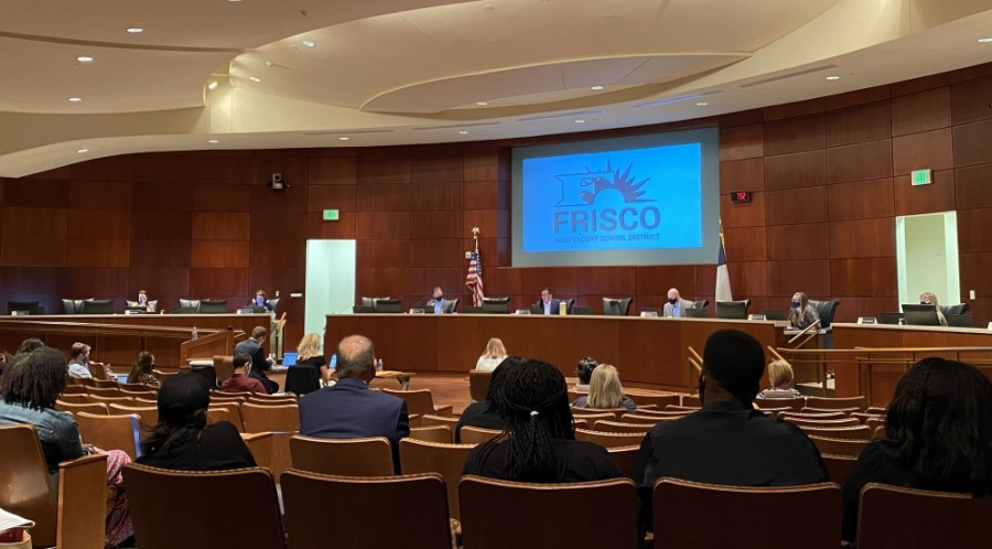 Frisco ISD officials updated the board on their definition of a close contact at an Oct. 13 meeting. (Elizabeth Uclés/Community Impact Newspaper)