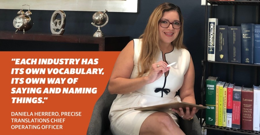 Daniela Herrero is the chief operating officer of Precise Translations (Courtesy Precise Translations)