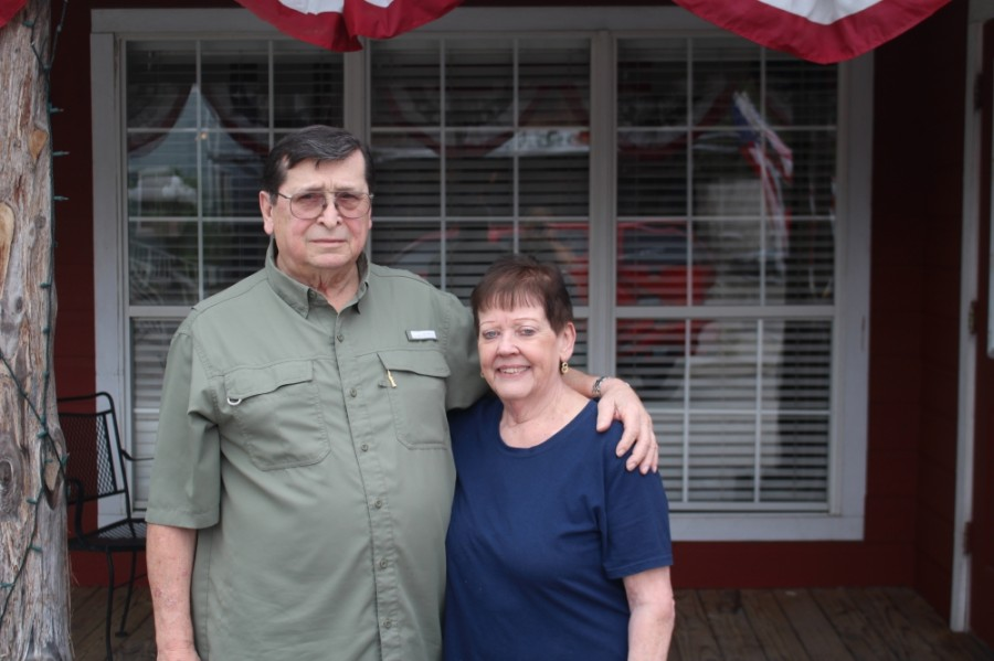 Lloyd and Nancy Ashbaker opened Old Montgomery Steakhouse in September 2002. (Eva Vigh/Community Impact Newspaper)