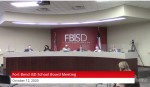 As some Fort Bend ISD students returned to the classroom, trustees returned to the boardroom for the first time since March for their Oct. 12 meeting. (Screenshot courtesy Fort Bend ISD)