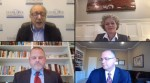 Three of the five candidates running for a Clear Creek ISD board of trustees seat discussed their stances on relevant issues with moderator Glenn Freedman during a virtual forum. (Screenshot of Oct. 8 forum)