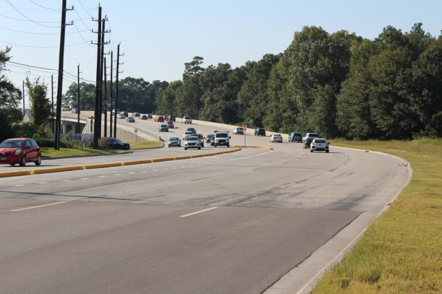 The addition of a bridge and around 3 miles of widened lanes on Rayford Road was the largest Precinct 3 bond project. (Ben Thompson/Community Impact Newspaper)