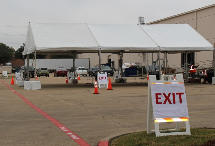 Collin County has a drive-thru drop-off location for mail ballots behind the election office at 2010 Redbud Blvd., McKinney. (Miranda Jaimes/Community Impact Newspaper)
