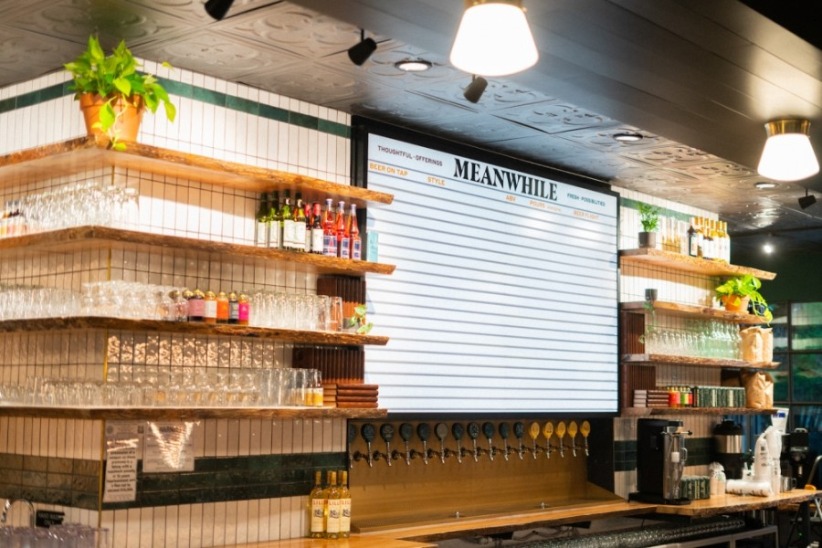 Meanwhile Brewing Co.'s bar will offer mixed cocktails as well as beer. (Courtesy Meanwhile Brewing Co.)