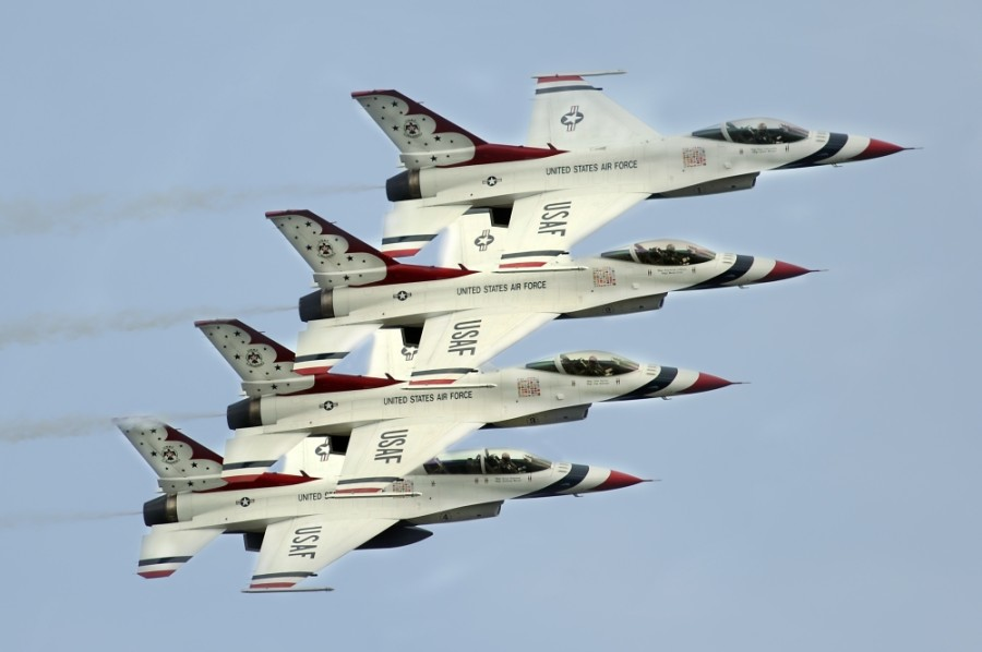 The U.S. Air Force Thunderbirds will be the featured performers at the 30th Anniversary of the Bell Fort Worth Alliance Air Show. (Courtesy of Bell Fort Worth Alliance Air Show)