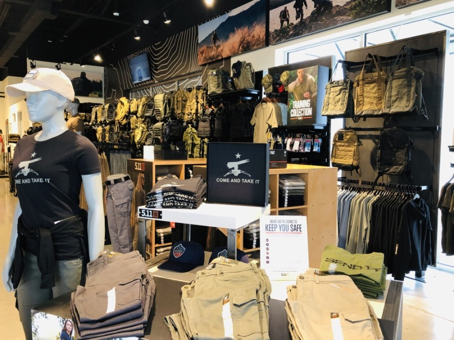 The store offers a wide selection of tactical gear, including boots, belts and knives. (Ian Pribanic/Community Impact Newspaper)