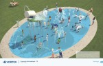 A splash pad is included in the new plans for the park. (Rendering courtesy McKinney Parks and Recreation)