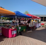 The market is open from 11 a.m.-4 p.m. every Sunday when the weather permits and includes one row of vendors along the waterside of The Boardwalk at Granite Park's pavilion. (Courtesy The Boardwalk at Granite Park)