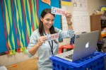 Minshew Elementary teacher Melissa Rushing teaches first grade virtual students. Minshew and Reuben Johnson elementary schools will participate in MISD's Reading Academy pilot program. (Courtesy McKinney ISD)