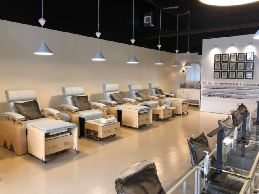 The new beauty salon offers manicures and pedicures, featuring classic polish, gel and acrylic nail options. (Courtesy The Nail Parlor)