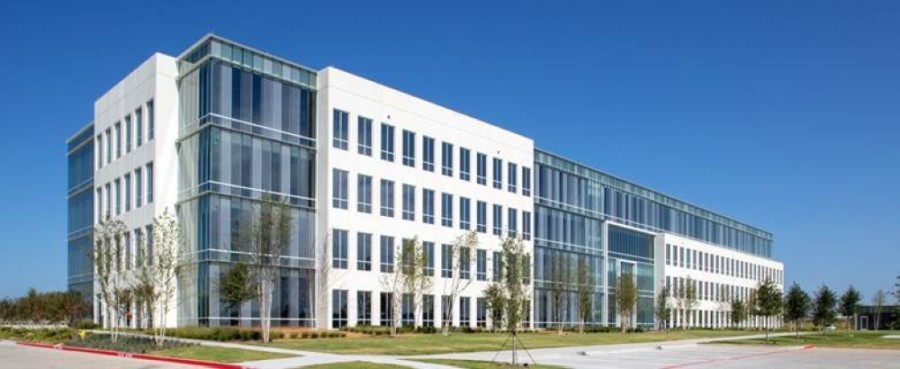 A four-story office building was recently completed at the International Business Park campus. (Courtesy Chad M. Davis)