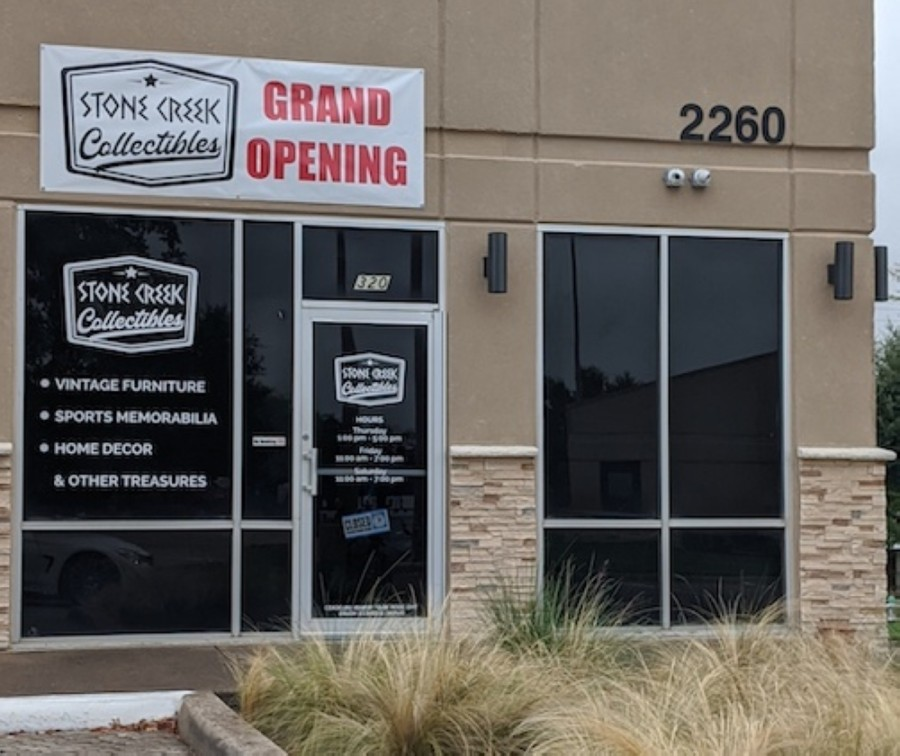 Stone Creek Collectibles is located at 2260 Morriss Road, Ste. 320, Flower Mound. (Jason Lindsay/Community Impact Newspaper)