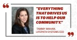 Tammy Mahan started as LifePath Systems' CEO in February. (Courtesy LifePath Systems; Designed by Chelsea Peters/Community Impact Newspaper)
