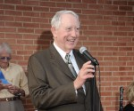 Mickey Deison speaks at a city event. (Courtesy Larry Foerster)