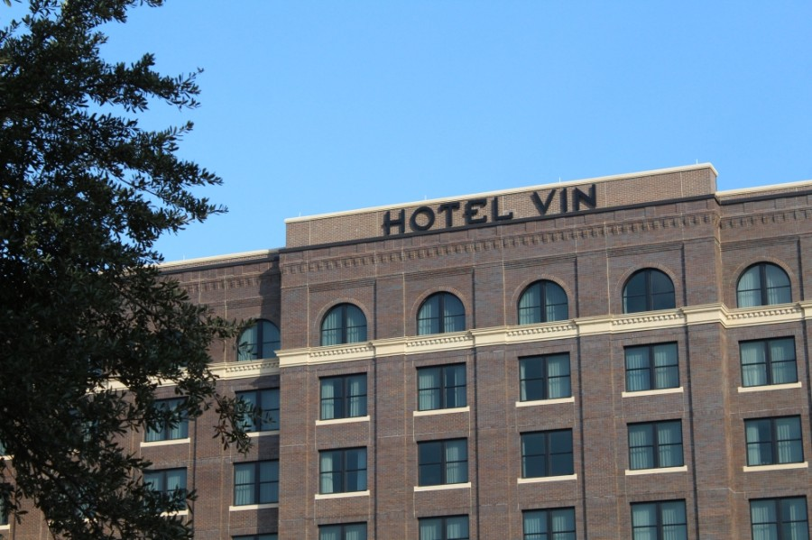 The newly opened Hotel Vin and the upcoming Harvest Hall adjacent to the hotel are looking to hire employees during their Oct. 22 hiring fair. (Sandra Sadek/Community Impact Newspaper)